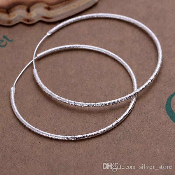 새로운 스털링 실버 플레이트 모래 귀리 반지 DFMSE044, 여성 925 실버 매달려 샹들리에 귀걸이 10 쌍