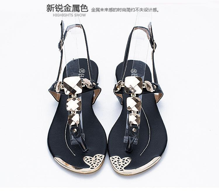 c924739eda6d Exempt Postage Women S Shoes Metal Decoration Flat Flip Flop Sandals Metal  Buckle Flip T Fashion Quality Fashion Gladiator Sandals X 3 Platform Shoes  Prom ...