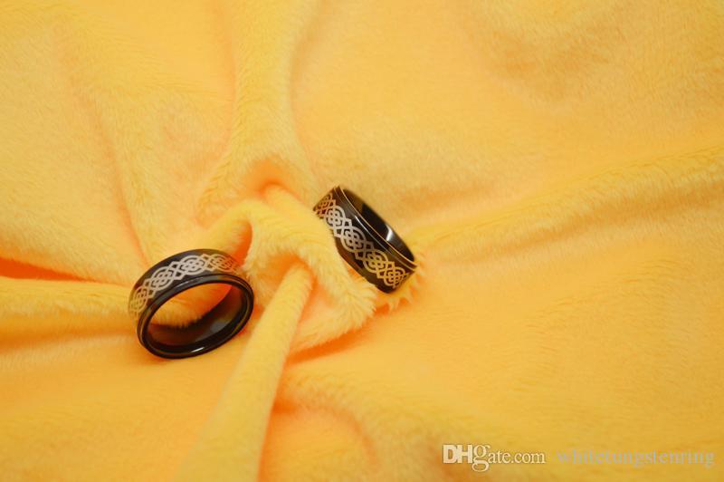 패션 수제 반지 블랙 텅스텐 반지 켈트 레이저 WRY-417 뜨거운 판매 보석 손가락 반지
