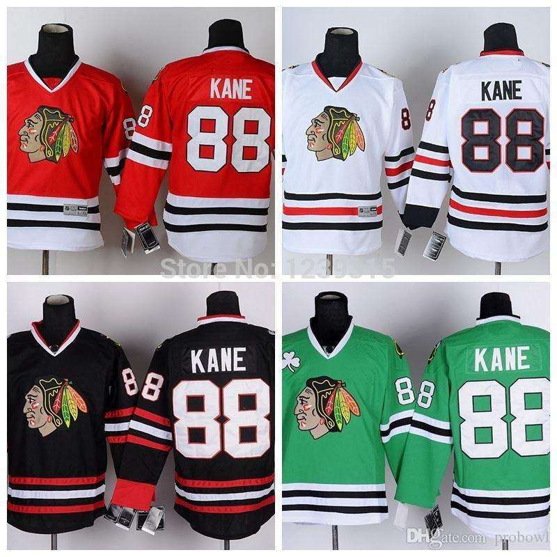 2019 Wholesale Chicago Blackhawks Hockey Jerseys Patrick Kane Jersey 88  Home Red White Black Green Stitched Ice Hockey Jersey Bags From Probowl 979f23a0b47