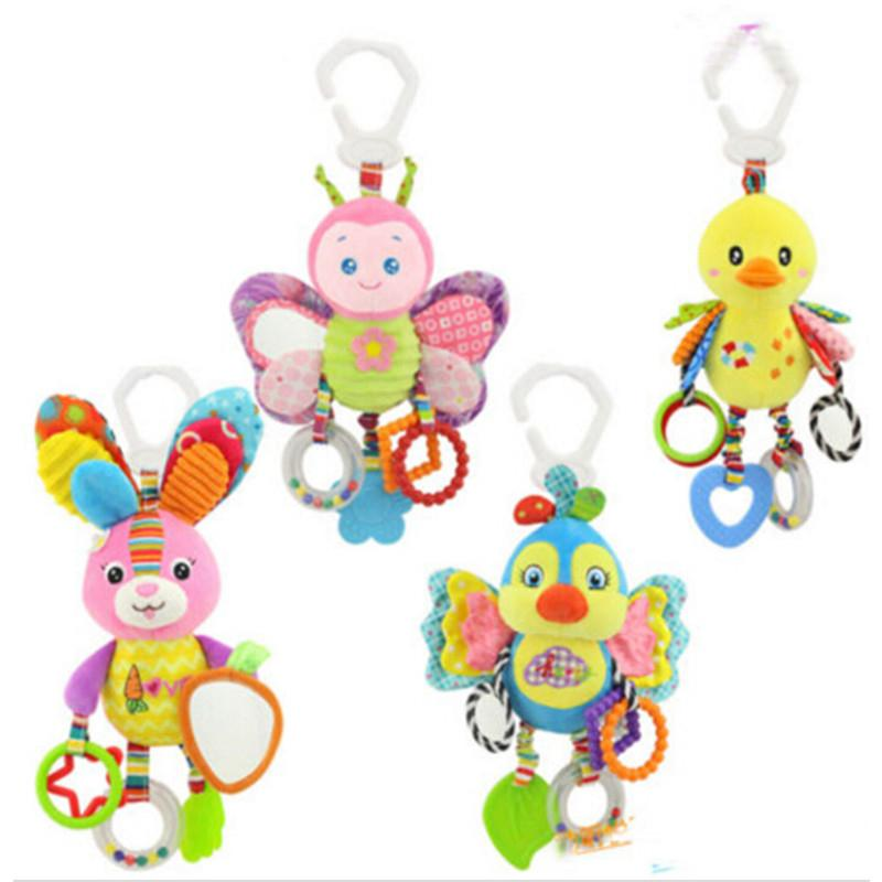 Toys & Hobbies Baby & Toddler Toys 100% Quality Baby Rattles Toy Soft Frog Giraffe Deer Plush Toy Animal Baby Crib Bed Hanging Bells Toys For Stroller Newborns Kids Toys