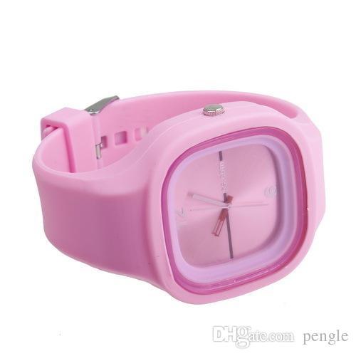Wholesale Fashion Geneva Watch Multiple Color Watches Silicon Sports Cartoon Wrist Watch For Women Men Kids Watch