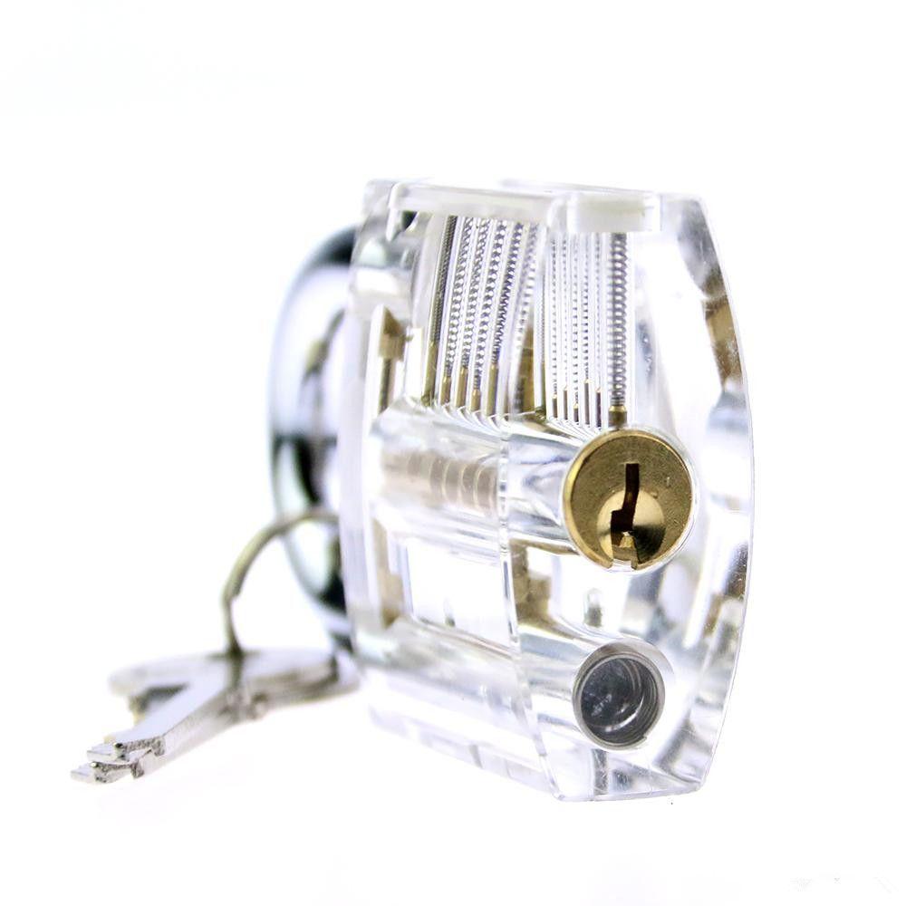 Yüksek Kalite Paslanmaz Çelik 24 adet GOSO Kilit Pick Set Kiti Çilingir Araçları ile Şeffaf Uygulama Asma Kilit