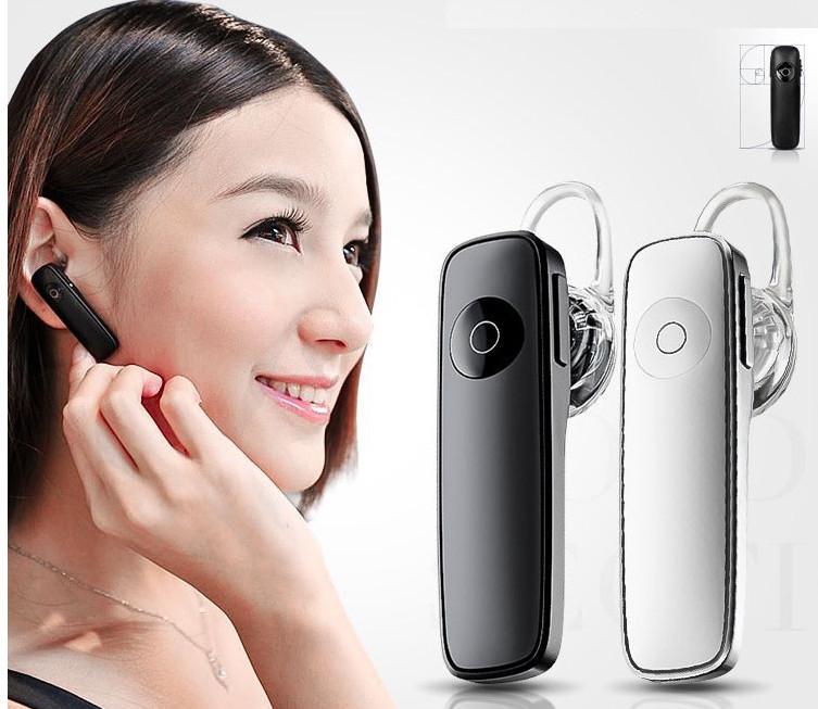M165 Bluetooth écouteur stéréo sans fil casque mini haut-parleur BT mains libres universel pour tous les téléphones avec pakcage ZPG056