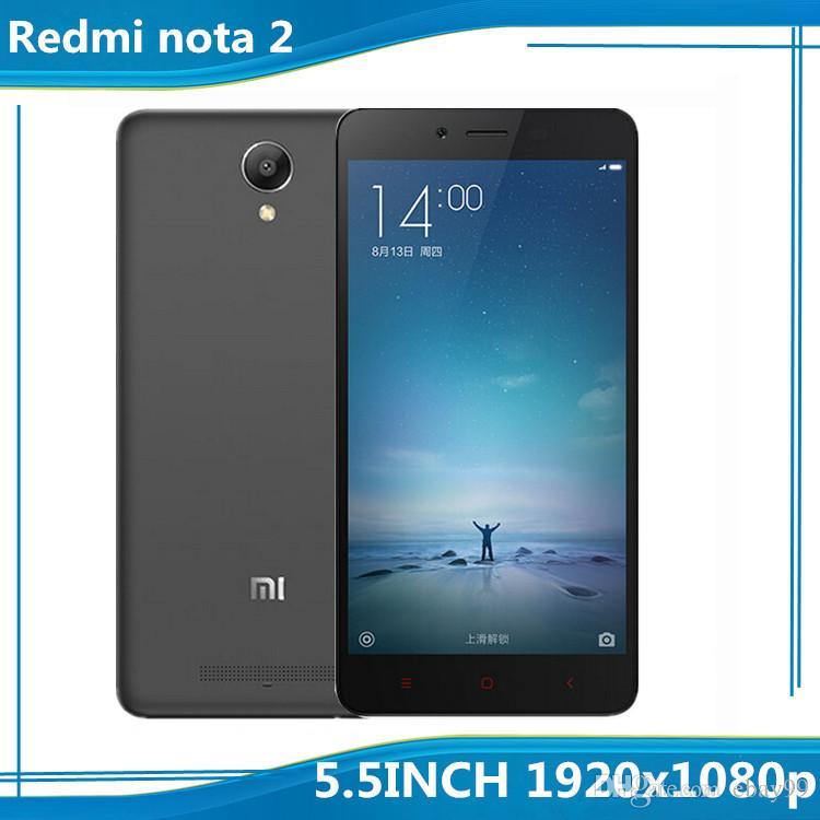 Best 2016 Original Xiaomi Redmi Note 2 Prime Phone 4g Fdd Lte Mtk X10 22ghz Octa Core 64bit 55 Inch 2gb Ram 32gb Rom 3060mah Google Play Mobile