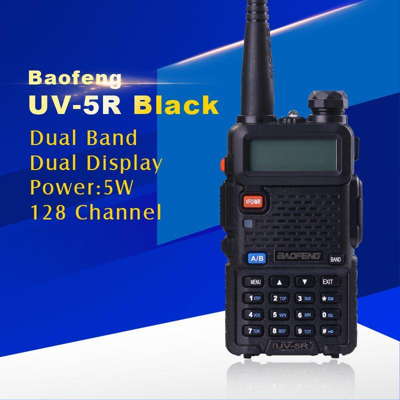 BAOFENG UV-5R Walkie Talkie Dual Band Radio 136-174MHz 400-520Mhz Baofeng UV5R карманным Two Way Радио