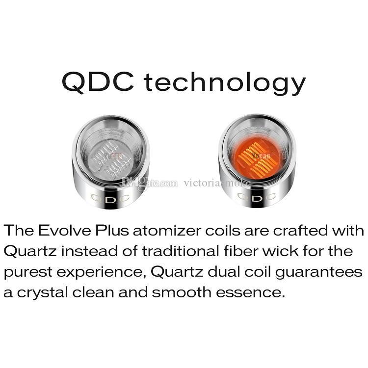 MOQ= DHL Free Authentic Yocan Evolve Plus Kit 1100mAh Battery Quartz Dual Coil QDC E Cigarette Kits All In stock