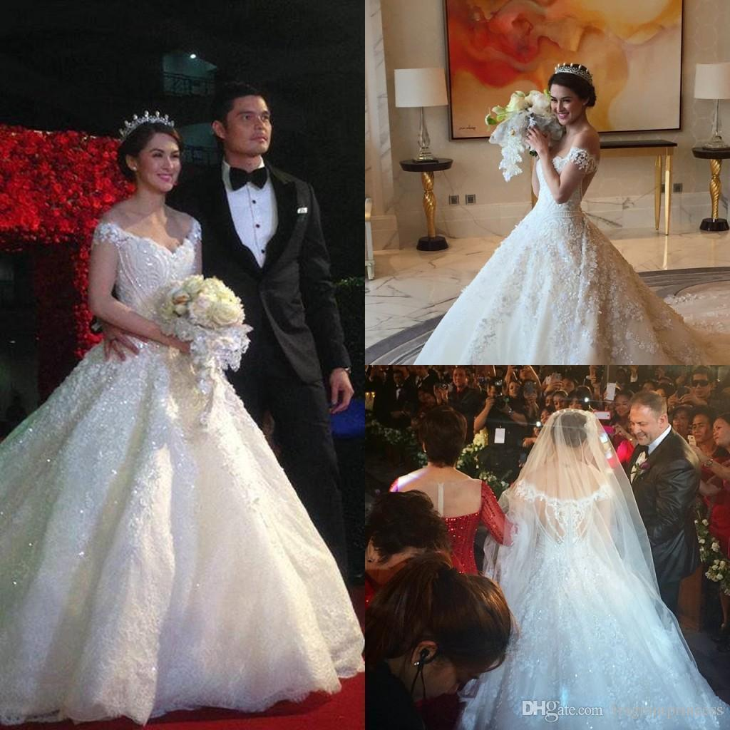 Discount 2015 New Luxurious Ball Gown Wedding Dresses Cathedral ...