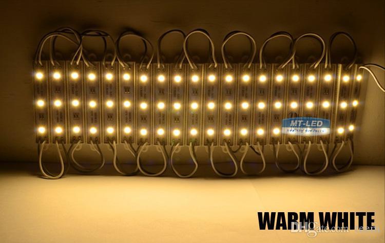 وحدات SMD5050 LED للماء IP65 DC 12V 0.72W 3 المصابيح تسجيل الصمام الإضاءة الخلفية لقناة رسائل دافئ / بارد أبيض أحمر أزرق الإضاءة 1000
