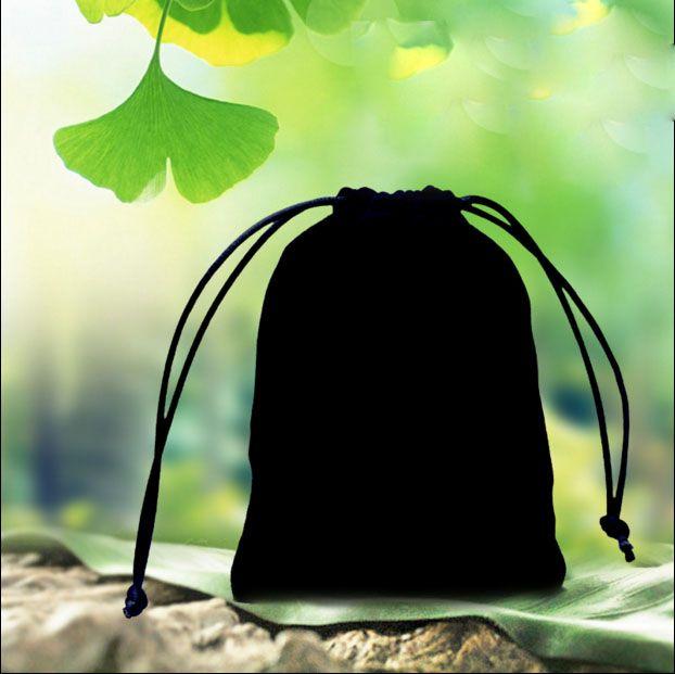 Бархат хранения шнурок сумки мешок 30x40 см 12