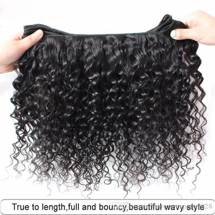 10-28inch deep Wave,50g/pcs 5A Peruvian Hair brazilian hair indian hair Malaysian Virgin Hair , Wholesale Human Hair Weave Bundles