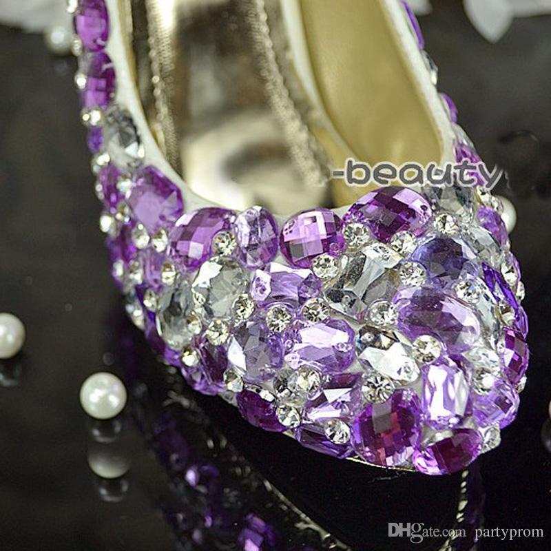 Belo azul cristal vestido de noiva sapatos de diamante strass nupcial vestido de sapatos de brilho festa de dança prom sapatos