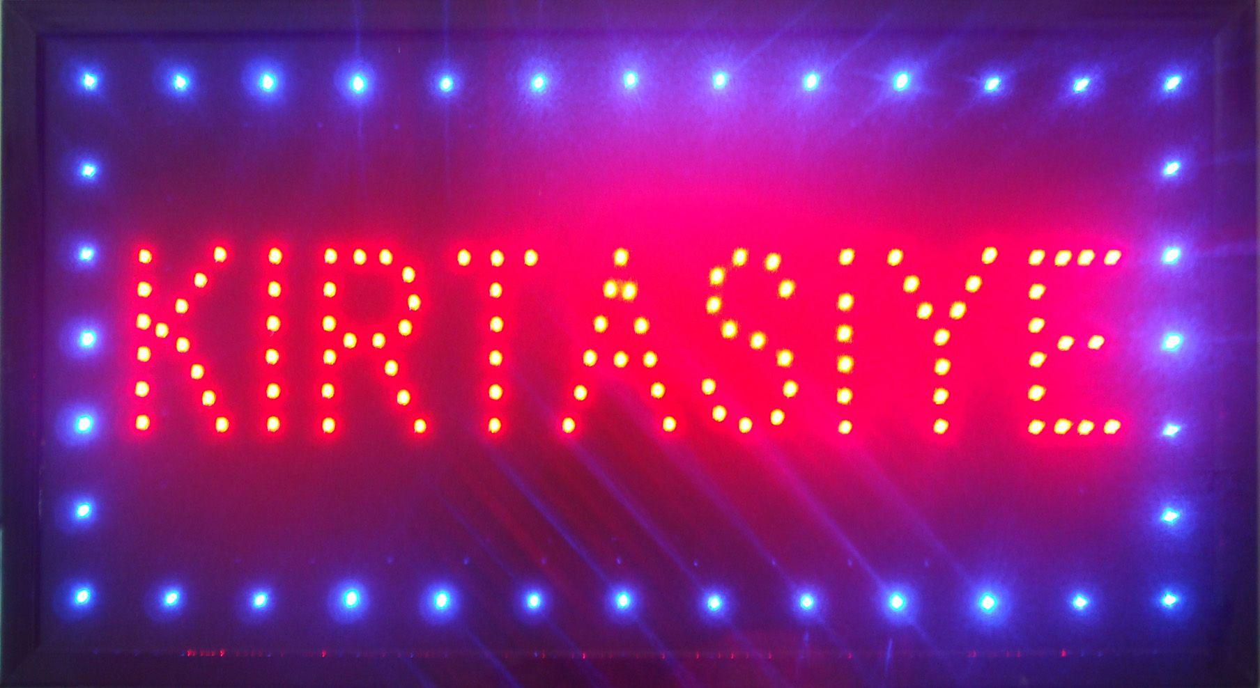 LED Neon Sign KIRTASIYE Animated Neon Eye-catching Slogans Billboard ...