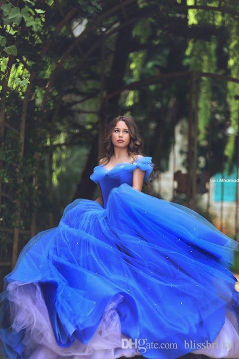 Старинные принцессы бальное платье Quinceanera платье с плеча льда голубые вечерние платья выпускные платья длиной до пола роскошь 2017 дешево