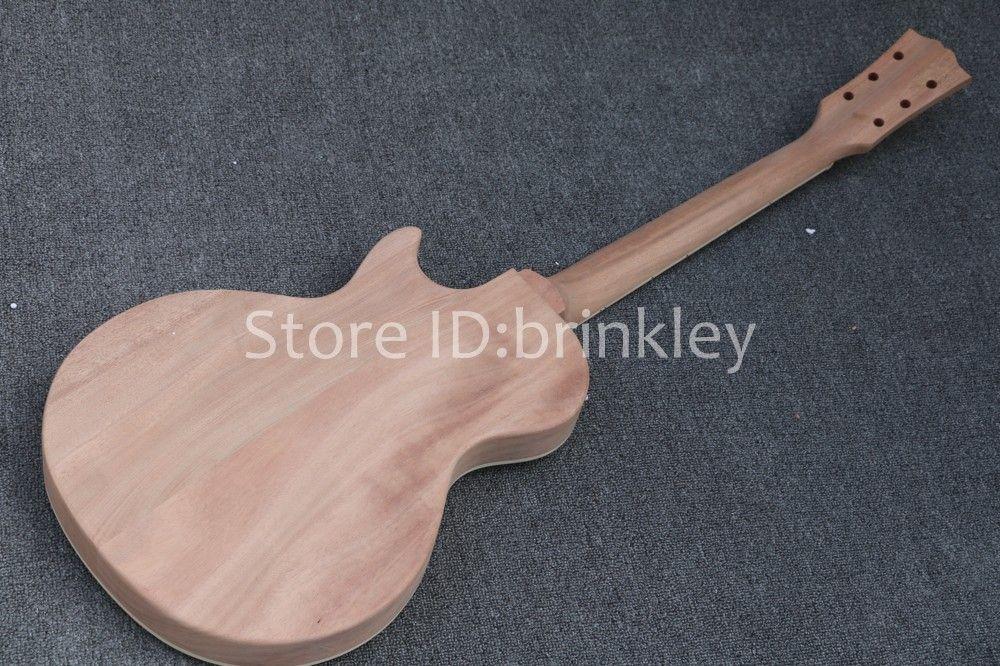Brinkley Wholesale 고품질 일렉트릭 기타 DIY 키트 세트 마호가니 바디 로즈 우드 지판 기타 키트, 미완성 기타