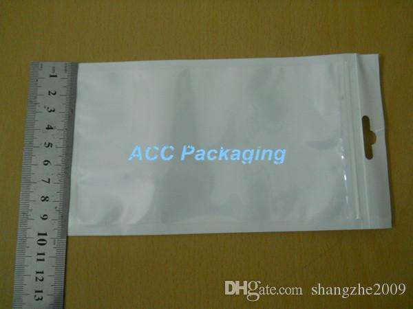 White / Clear Retail Packaging Plastic Poly Bag For Cell Phone Case, Case For iPhone 5S 5C 5 4S 4 3 Samsung Galaxy S3 S2 HTC