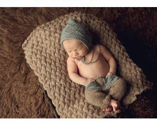 2015 quality New 0-3month Baby Crochet Photography Props Newborn Photo Cool Boy Costumes Infant Beanies And Pants Clothing Set