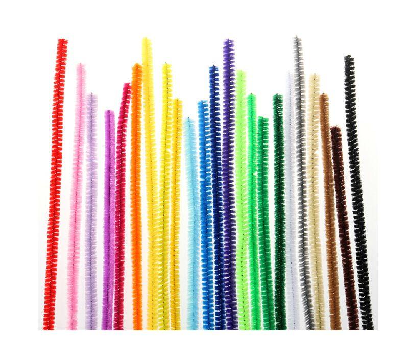 Fuzzy Pipe Cleaner Stems -CHENILLE CRAFT STEMS CREATIONE KUNST CHENILLE STEM PIJPPLEULINGEN 12