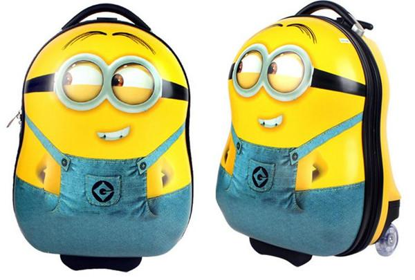 Children Minions 3d Bags Girls&Boys Trolley School Bags Classic ...