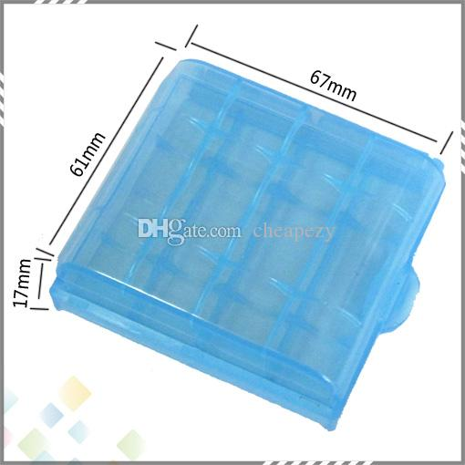 14500 10440 단단한 플라스틱 투명 배터리 스토리지 박스 AA AAA 배터리 용 충전식 배터리 홀더 케이스 DHL Free