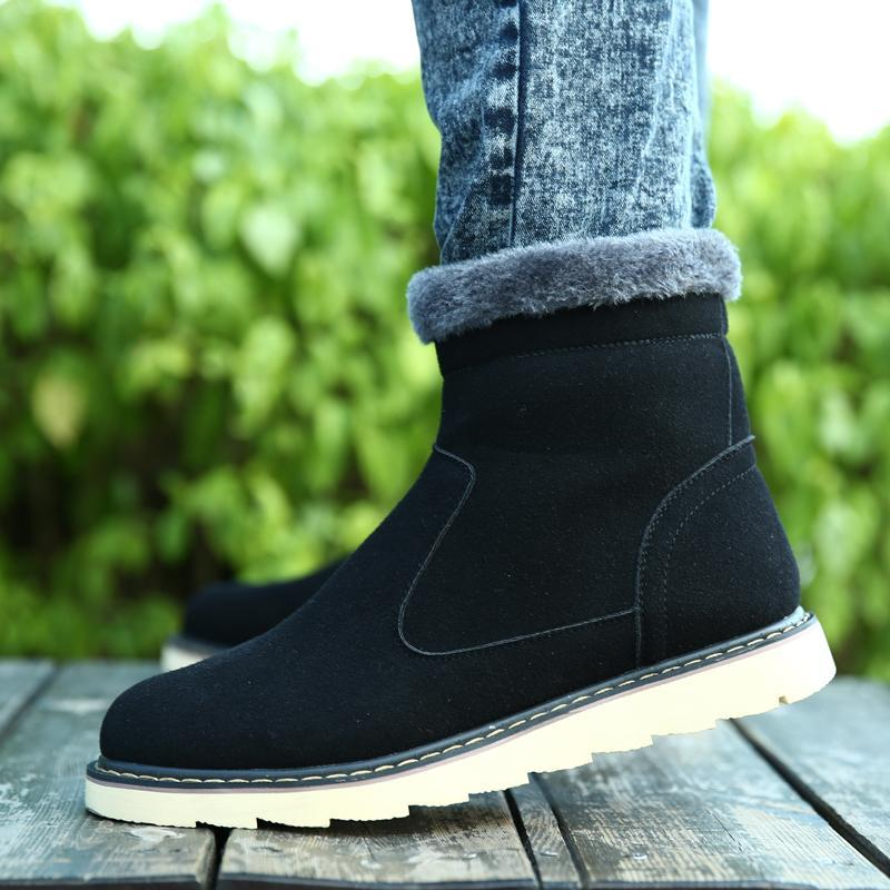 Winter Men Shoes For Fashion 0 Genuine Leather Thicken Keep ...