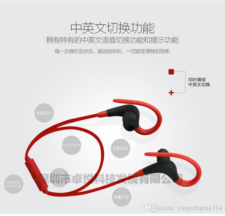 DHL Ear style sport trade new Bluetooth headset phone Universal Wireless stereo headphones
