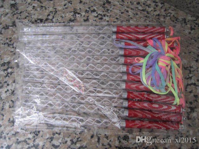 Nuevo Popular LED Cheer Glow Sticks Colorido varita de Flash para niños Juguetes Concierto de Navidad Fiesta de cumpleaños Suministros