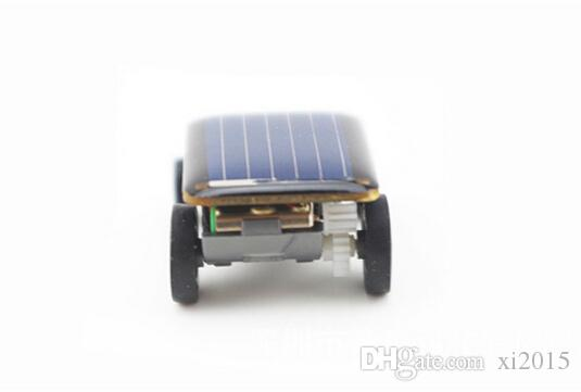 Mini Smallest Solar Powered Robet Racing Car Moving Drive Car Fun Gadget Toy For Kids