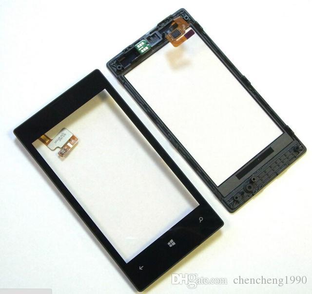 520タッチスクリーンデジタイザ+ Nokia Lumia 520 N520高品質のためのフレーム交換