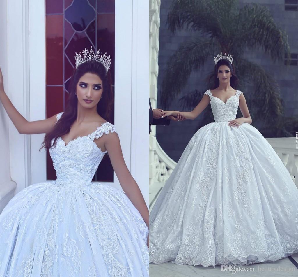 Dw2815 Princess Ball Gown Wedding Dresses 2017 Lace With: 2017 Morden White Ball Gown Wedding Dresses Sweetheart