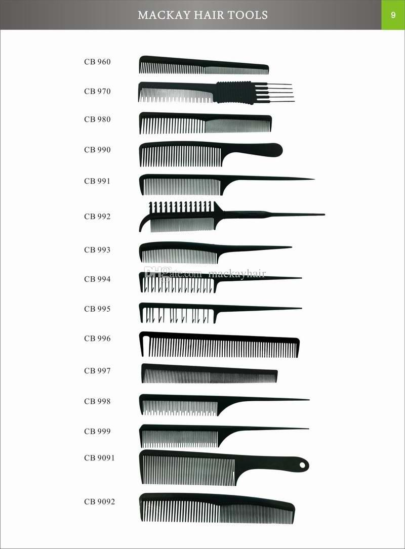Tony Guy Carbon Comb Barber Cutting Combs Fabric Material Black Color Heat Resistant Polybag Packing DHL Free Shipment