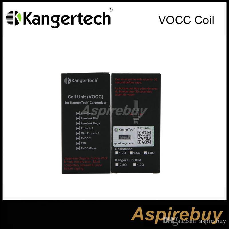 サブタンクEVODメガ、Aerotank、Aerotank Mini、Aerotank MegaのためのUpgradeda 100%オリジナルのKanger Socc / VOCCコイルOCC(有機コットンコイル)