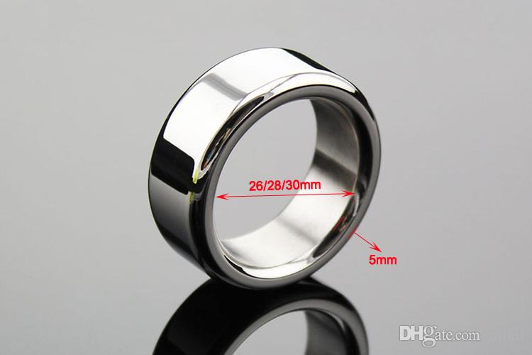 Wholesale - Stainless steel time delay loop,Penis Cock Ring Sex Toys For Male Metal Delayed Ejaculation Rings Adult Sex Products