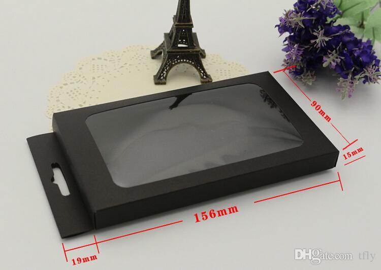 Universal Kraft paquete de papel al por menor de papel de embalaje cajas para la caja del teléfono iPhone SE 5S 4S 6 6 s MÁS Samsung Galaxy S7 S6 edge OEM