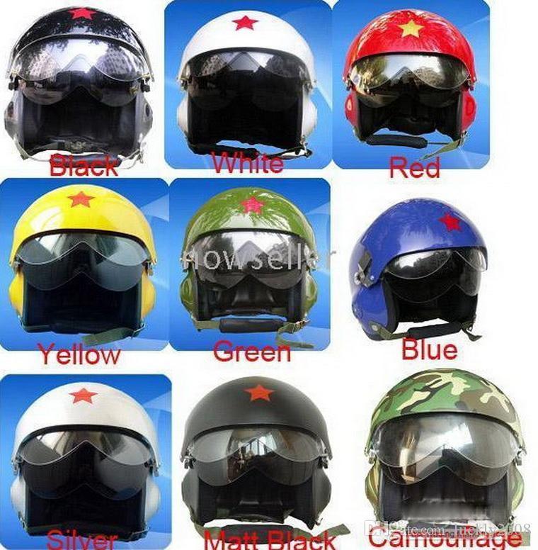 ad2b14a6f2693 Compre Venda Quente Pilotos Flying Helmet Motorcross Capacete Da  Motocicleta Genuine Fibra De Vidro Primavera E Modelos Masculinos E  Femininos De Luckly2008 ...