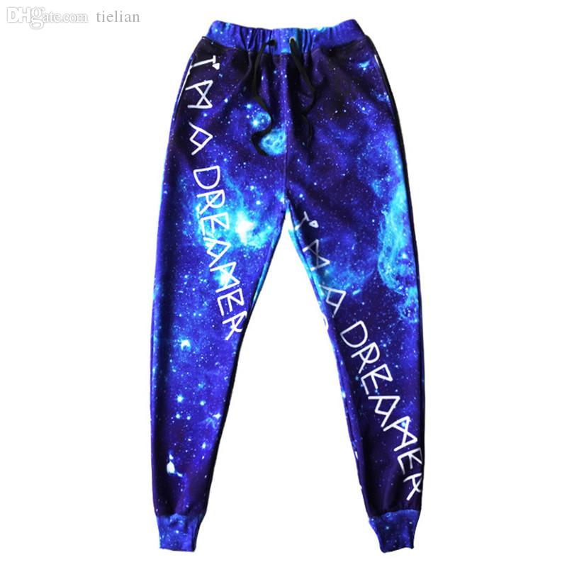 Wholesale-2015 hot new arrival mens jogger pants 3D graphic print galaxy space sport running sweat pants men/boy hip hop trousers jogging