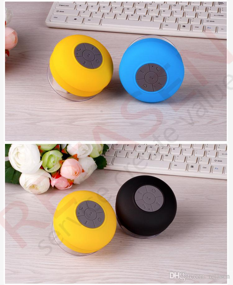 New Portable Waterproof Wireless Bluetooth Speaker Mini Suction Speakers Shower Car Handsfree Receive Call & Music Suction Phone Mic