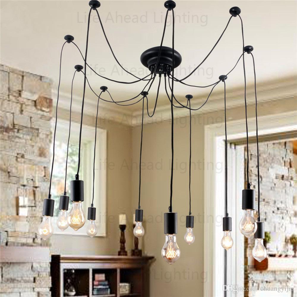 Bulb Included Edison Retro Artistic Chandeliers With 10 Lights