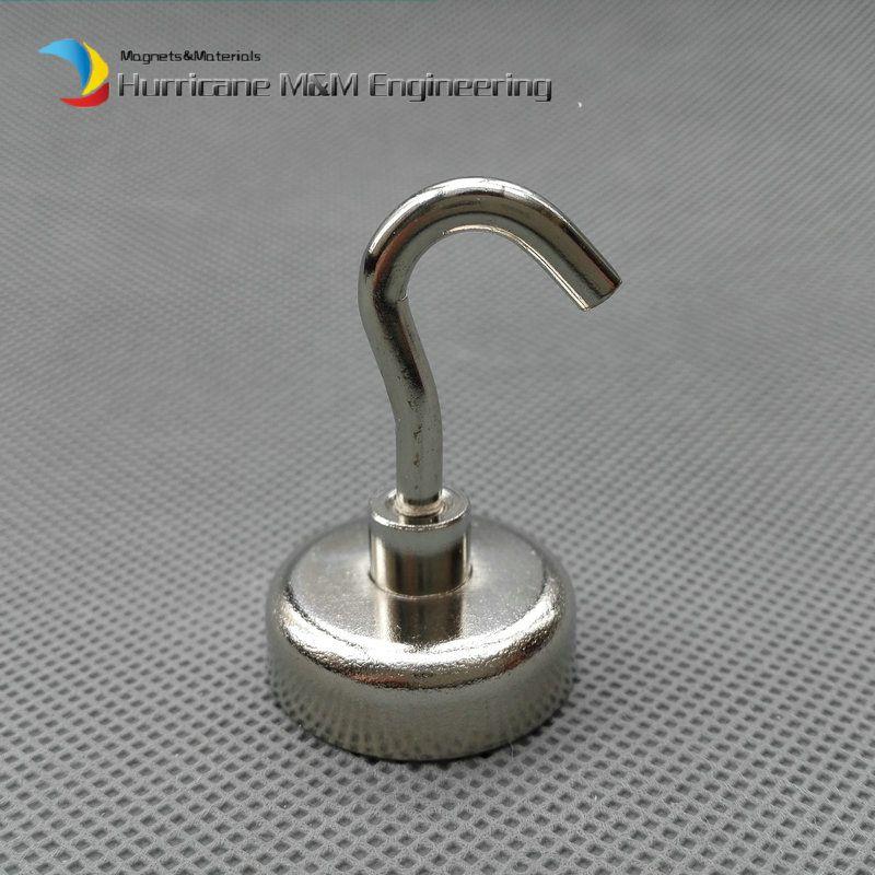 / lote 10 kg Tirando del imán de elevación Dia25 x 8 mm Ollas magnéticas con gancho Fuerte Imán de montaje Imanes permanentes de neodimio Uso de la instalación