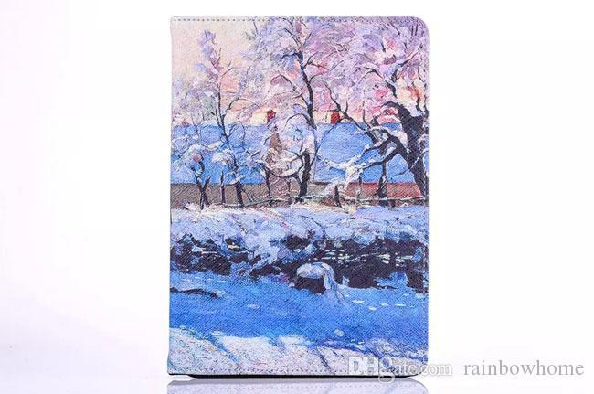 جديد الطباعة العالم اللوحة الشهيرة بو الجلود حالة الغطاء لباد mini123 mini4 باد 234 الهواء 5 Air2 6 OEM ODM