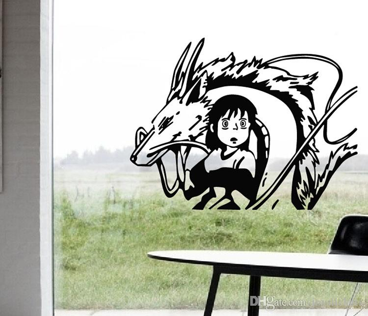 Anime Cartoon Spirited Away Baby Room Adesivo da parete per bambini presenti Decalcomanie Home Decor per Anime Fans