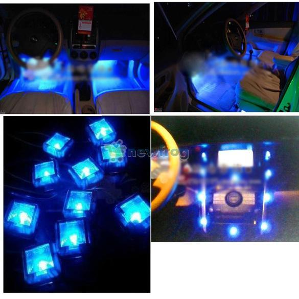 Compre Marca New 12v Car Interior 10 Led Decoration Pé Bem Neon Luz on