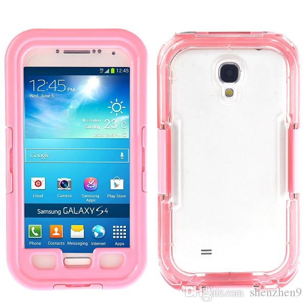 PC clear Waterproof phone cases Shockproof Dirt SnowProof Durable Case Covers for iPhone6 plus iphone5 samsung s3 4 5 note 3 LG G2 SCA030