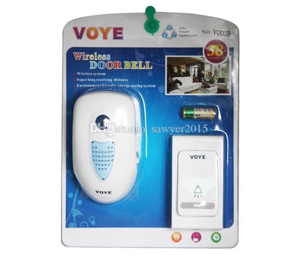 V003B Sonnette Numérique Sans Fil Maison Sécurité Sonnettes Sans Fil Télécommande Maison 1Receiver 38 Alarme De Porte Tune
