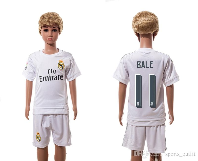 huge discount eca7b 9bd2d 2015 2016 real madrid scccer uniform short sleeves jersey ...