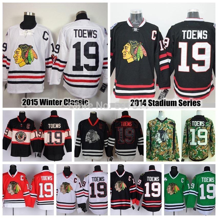 promo code 8308e a22fb 2015 Jonathan Toews Chicago Blackhawks Hockey Jerseys 19 Jonathan Toews  Jersey Winter Classic Black Cheap Stitched Logos C Patch