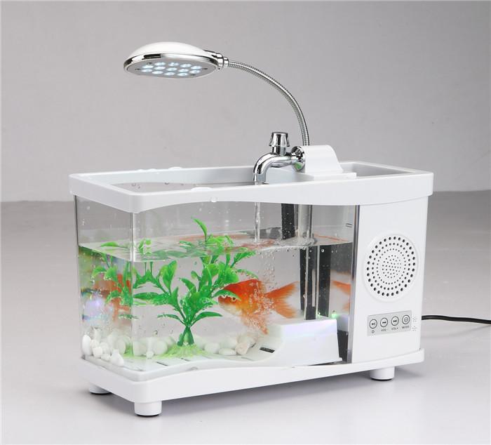 2015 Fashion Small Fish Tank Portable Bluetooth Wireless