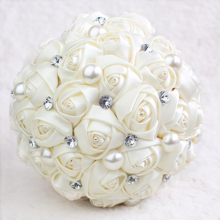 2016 hot sale artificial wedding bouquets glamorous pearl for Fall wedding bouquets for sale
