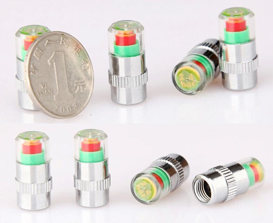 Alerta Aire válvula del neumático del coche del casquillo de presión de los neumáticos del automóvil Monitoreo de Presión de Neumáticos 2,4 bar 36 PSI Tpms Alert Tool DHL