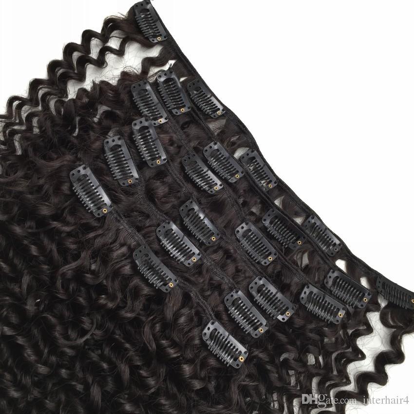 2016 nova vinda virgem mongol cabelo humano 3a / 3b / 3c afro crespo kinky curly em extensões do cabelo para a mulher negra